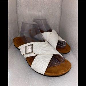 VIONIC  orthaheel criss cross texture slide sandal